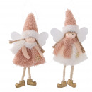 wholesale Figures & Sculptures: Fabric angel Amica, 2 colors, H18cm, pink-white